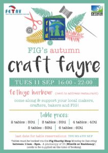 Fethiye International Group (FIG)  Autumn Craft Fayre - 12 September 2018 @ Fethiye Kordon (Next to Address Restaurant) | Independence | Kansas | United States