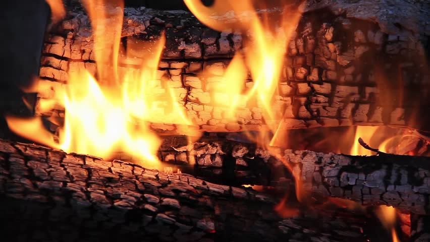 Glowing embers of the Yule Log
