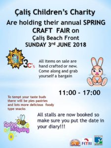 Çalış Children's Charity Spring Craft Fair - 3 June 2018 @ Çalış Beach Front | Muğla | Turkey