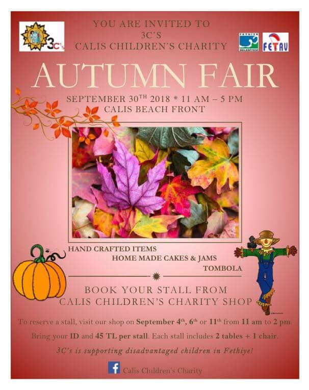 Çalış Children's Charity (3C's) Autumn Fair