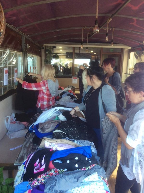 Fashion's Dirty Secrets leads to clothes exchange party in Çalış
