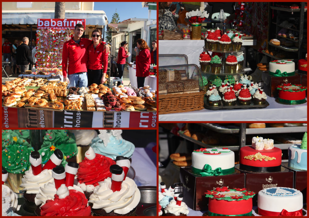 Baba Fırın with a selection of baked goods and Christmas cakes