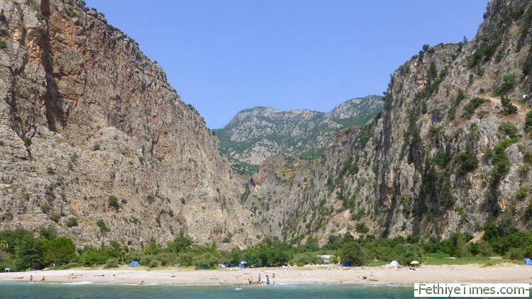 Butterfly Valley Oludeniz from the sea
