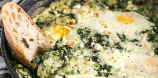 Recipe Box - Vegetables and Pulses - Kremalı Ispanak Yumurta (Eggs with spinach in cream sauce)