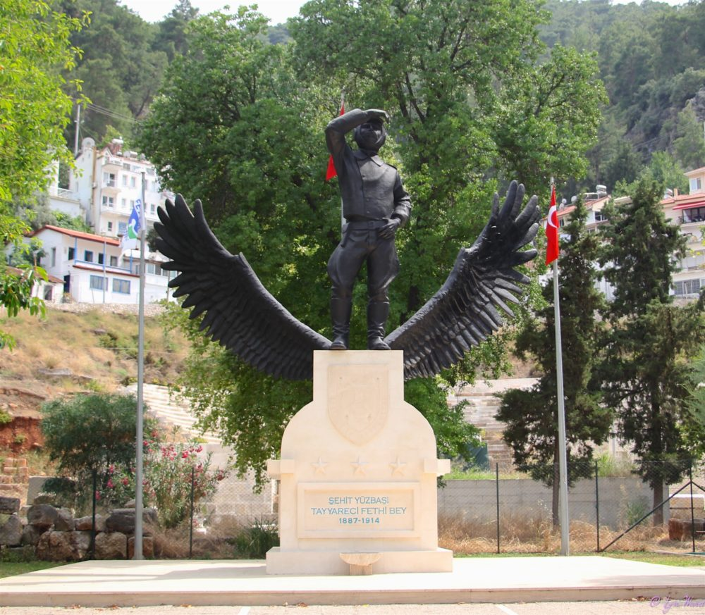 The statue of Fethiye Bey at it's current location