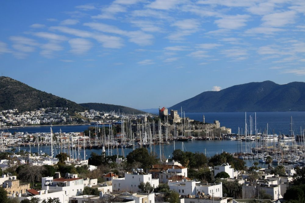The pretty harbour at Bodrum