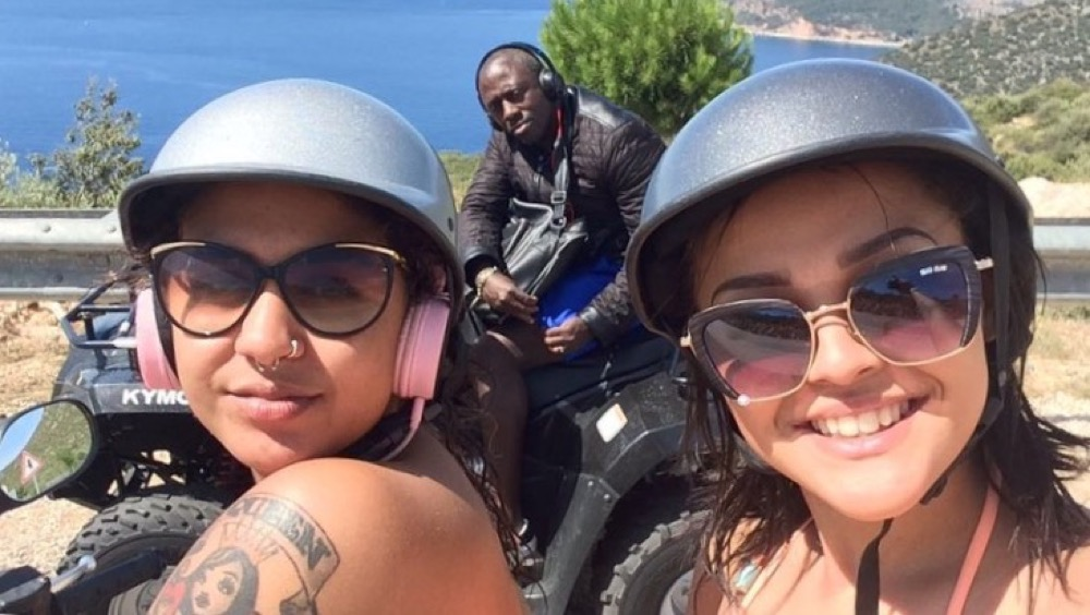 Holiday makers 21 year old Amarna Carthy and her cousin from Bakersfield, Nottingham hired a quad bike from Fethiye. Source - campaign