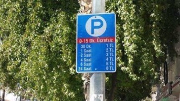 New on street parking charges were introduced last week in central Fethiye.