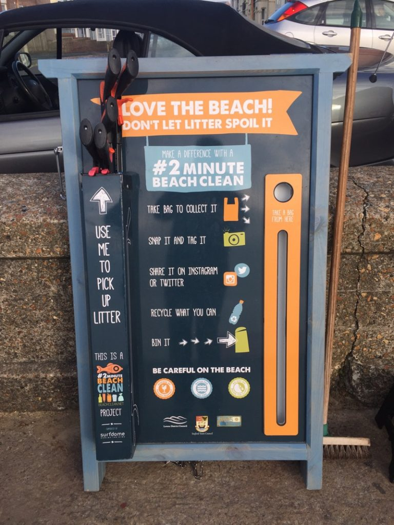 Litter and beach cleaning board