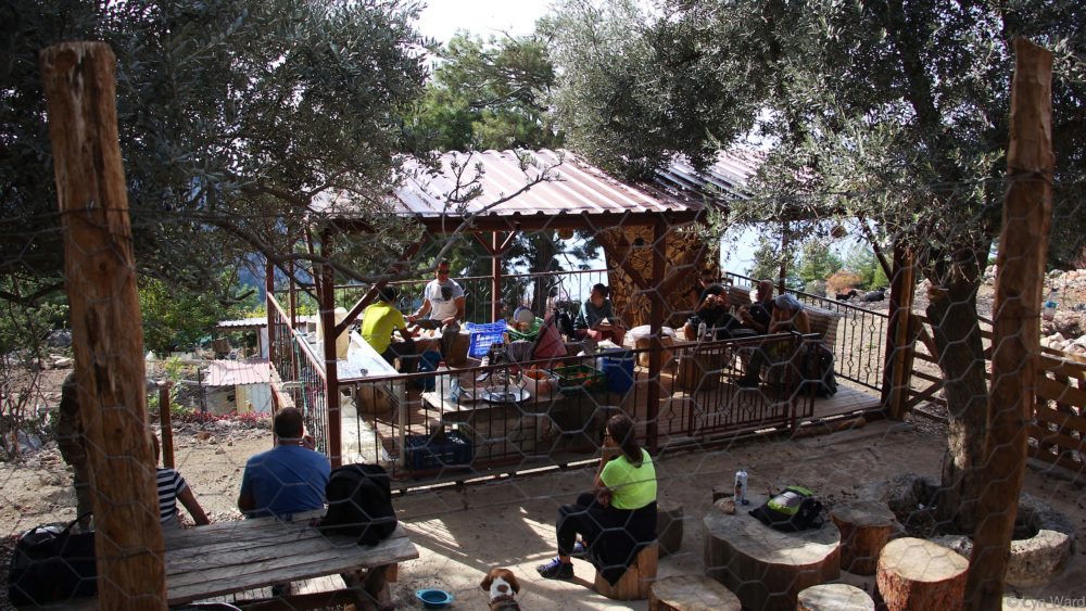 Halil's cafe - high up the mountain where you help yourself and leave a donation