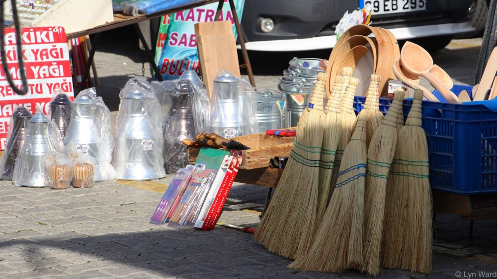 Stall selling household items