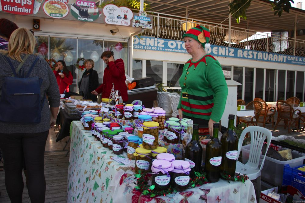 Yeşil Kekebek Ev with a selection of home made products
