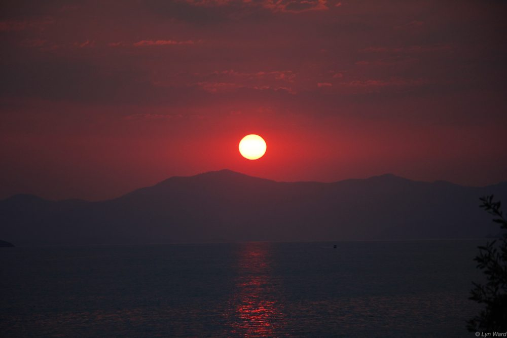 Sunset from Ada Restaurant - 19th July 2016