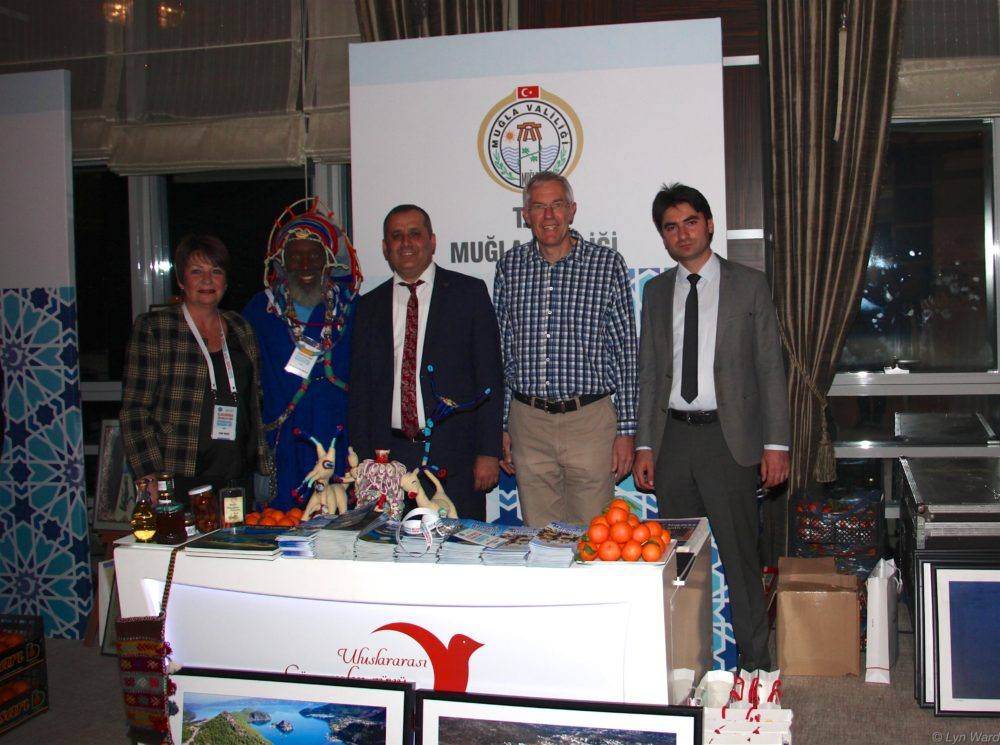 The team from Muğla (left to right)- Lyn Ward (Fethiye), Monad Elohim (Bodrum), Recep Batu (Provincial Director of Immigration - Muğla), Hans - Jürgen Louven (Muğla), Medet Sazak (Provincial Assistant Migration Expert - Fethiye)