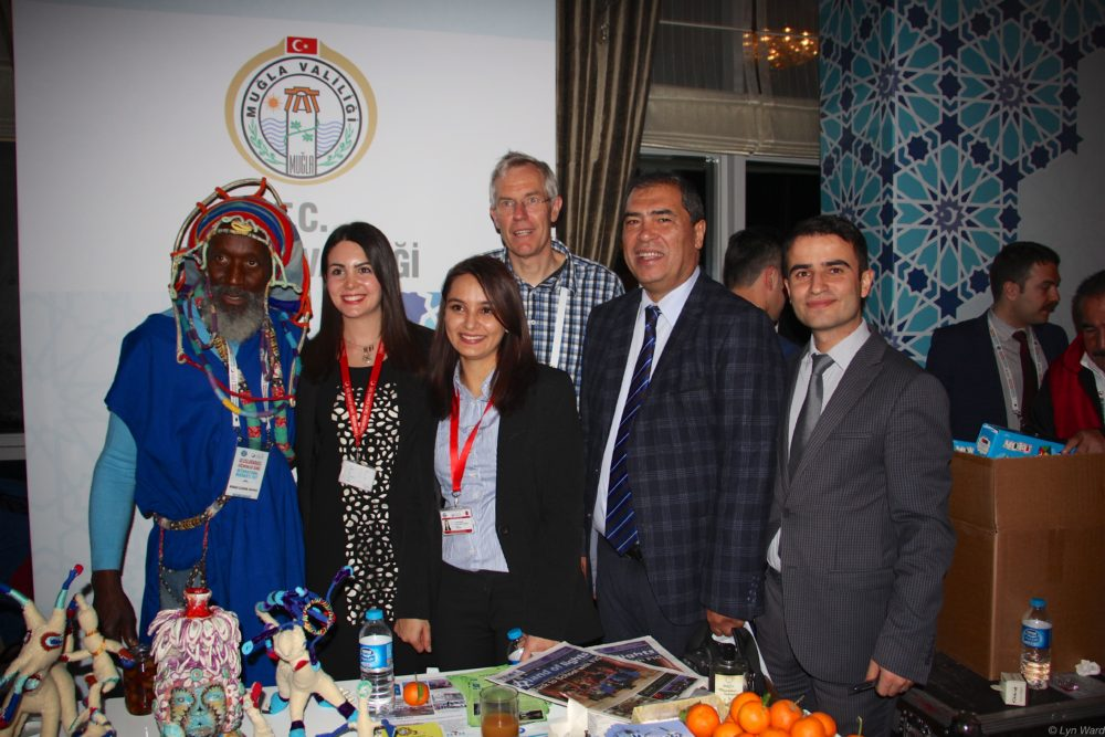 Visitors to the Muğla stand having a photograph with Monad, Hans and Ekrem Aylanç, Lieutenant Governor (Vali Yardımcısı) - Muğla