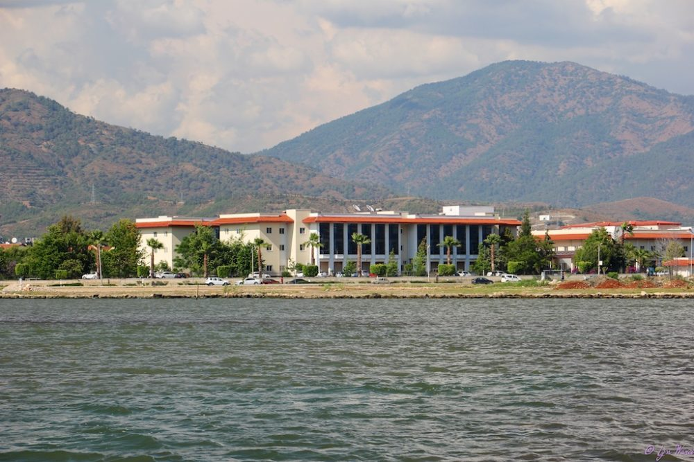 The Fethiye State Hospital (Devlet) overlooking the land to be developed.