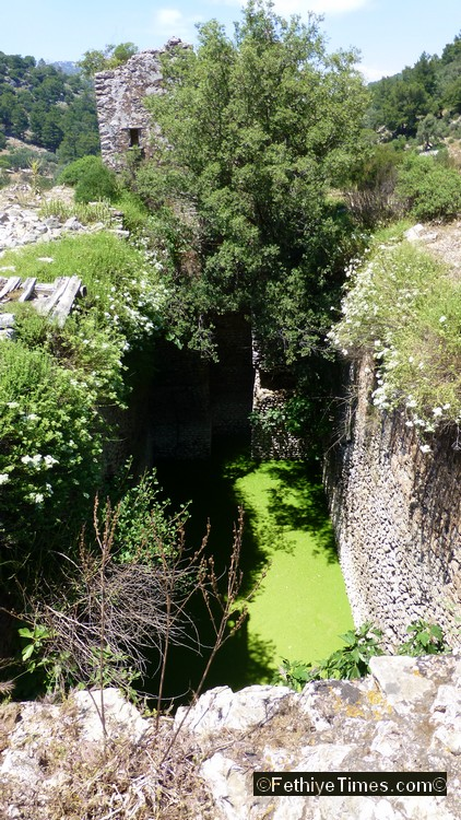 The impressive water cistern at the ancient site of Lydae near Gocek, Turkey