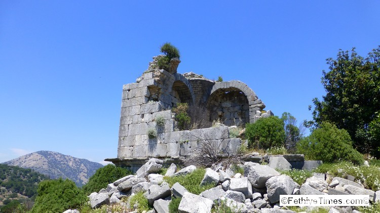 The ruins of the Tempel at Lydae
