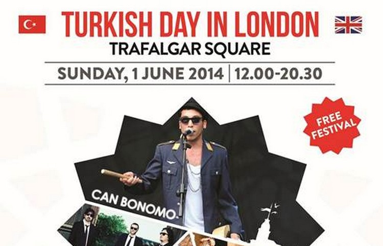 A open-air festival celebrating Turkey – Turkish Day in London – will be held this year on Sunday, 1st June in Trafalgar Square between 12pm and 8.30pm.