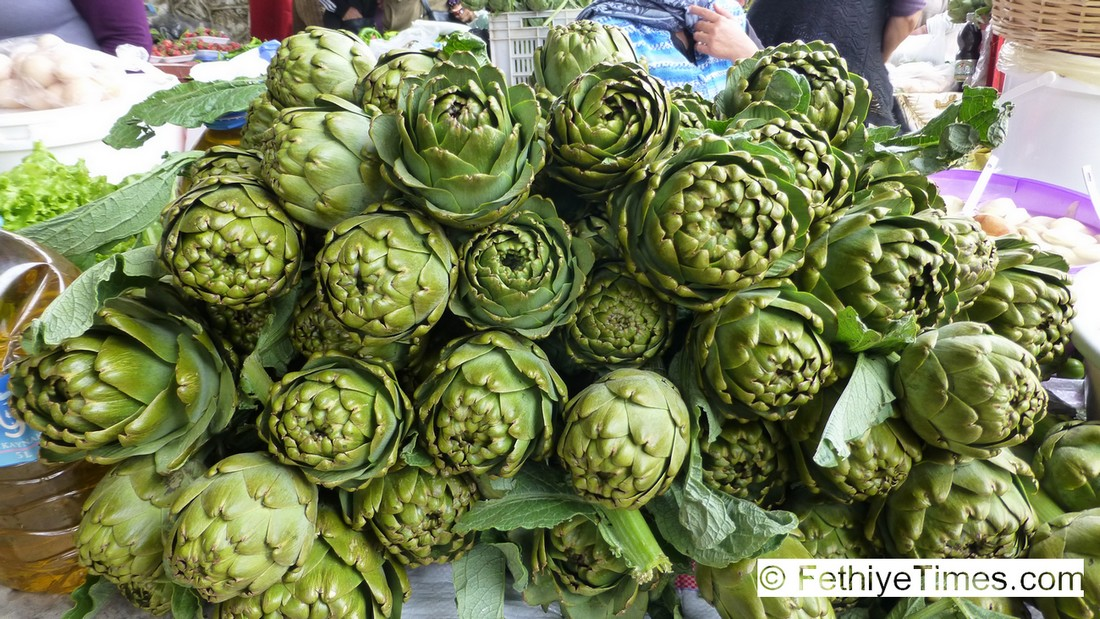 Fethiye Market in May - Globe Artichokes for Sale