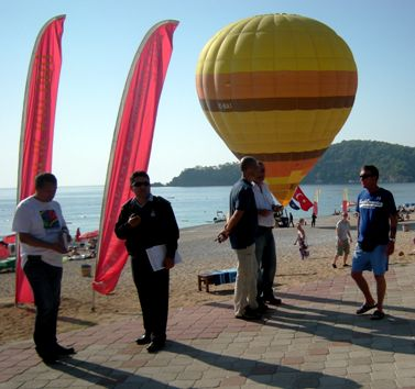 This picture is of the balloon, but thank you to our many models who stand there to give the picture scale