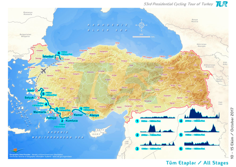 53rd Presidential Cycling Tour of Turkey comes to Fethiye Fethiye