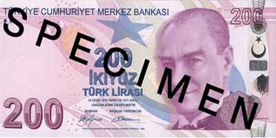 If you haven't been to Turkey for some time but you still have some bank notes left over from your trip they won't now be legal tender. But you can change them if you have the time.
