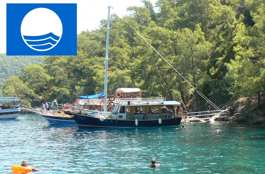 Blue Flags awarded to Fethiye & Oludeniz Beaches and Marinas