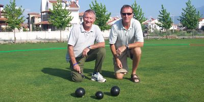 Calis, Fethiye now has its own crown green bowling rink