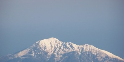 The mighty Cal Dag mountain to the north of Fethiye is topped with snow in winter
