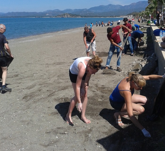 The community beach clean at Calis, Fethiye 12 May 2014