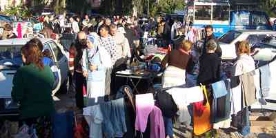 Car Boot Sale run by expats in Calis, Fethiye are very popular