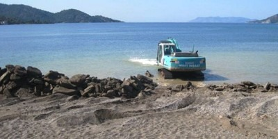 More works have been carried out this month to make Calis Beach more comfortable for bathers