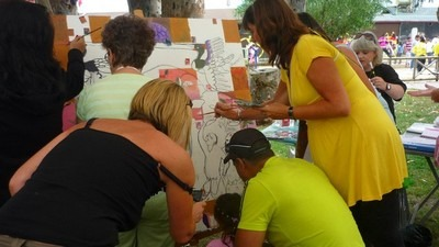 One of the activities in the 2010 Carnival was a group painting