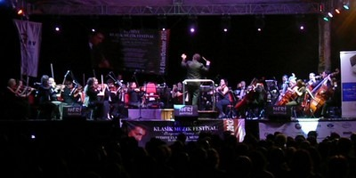 The Antalya State Symphony Orchestra performing at the Fethiye Classical Music Festival 6th October 2012