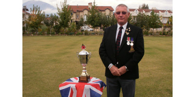 Colin Brown, Honorary Organiser for the Royal British Legion in Mugla, Turkey pictured on the bowling green Calis, Fethiye
