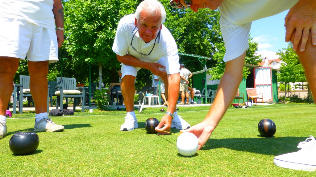 Anyone can come and play Crown Green Bowling in Calis, Fethiye every Thursday from 2pm