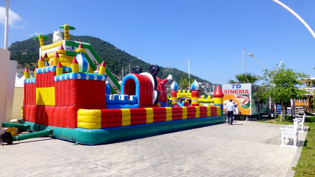 Bouncy castle Beskaz Square Fethiye May 2014