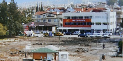 Fethiye town square project when the first ground works began