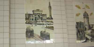 fantastic tiles in the station