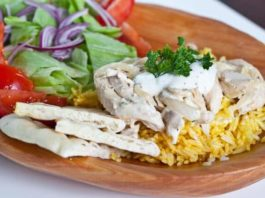 Leftover Turkey and rice with white sauce