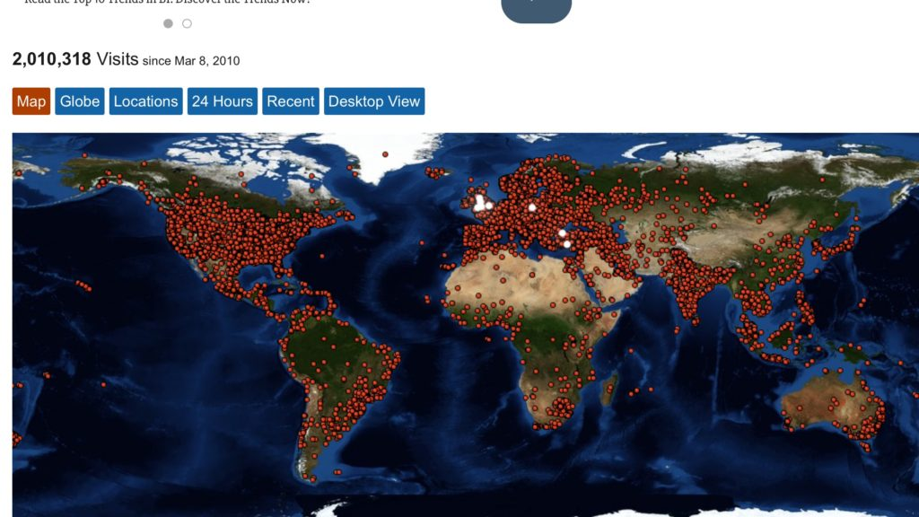 Visitor map and stats June 2016
