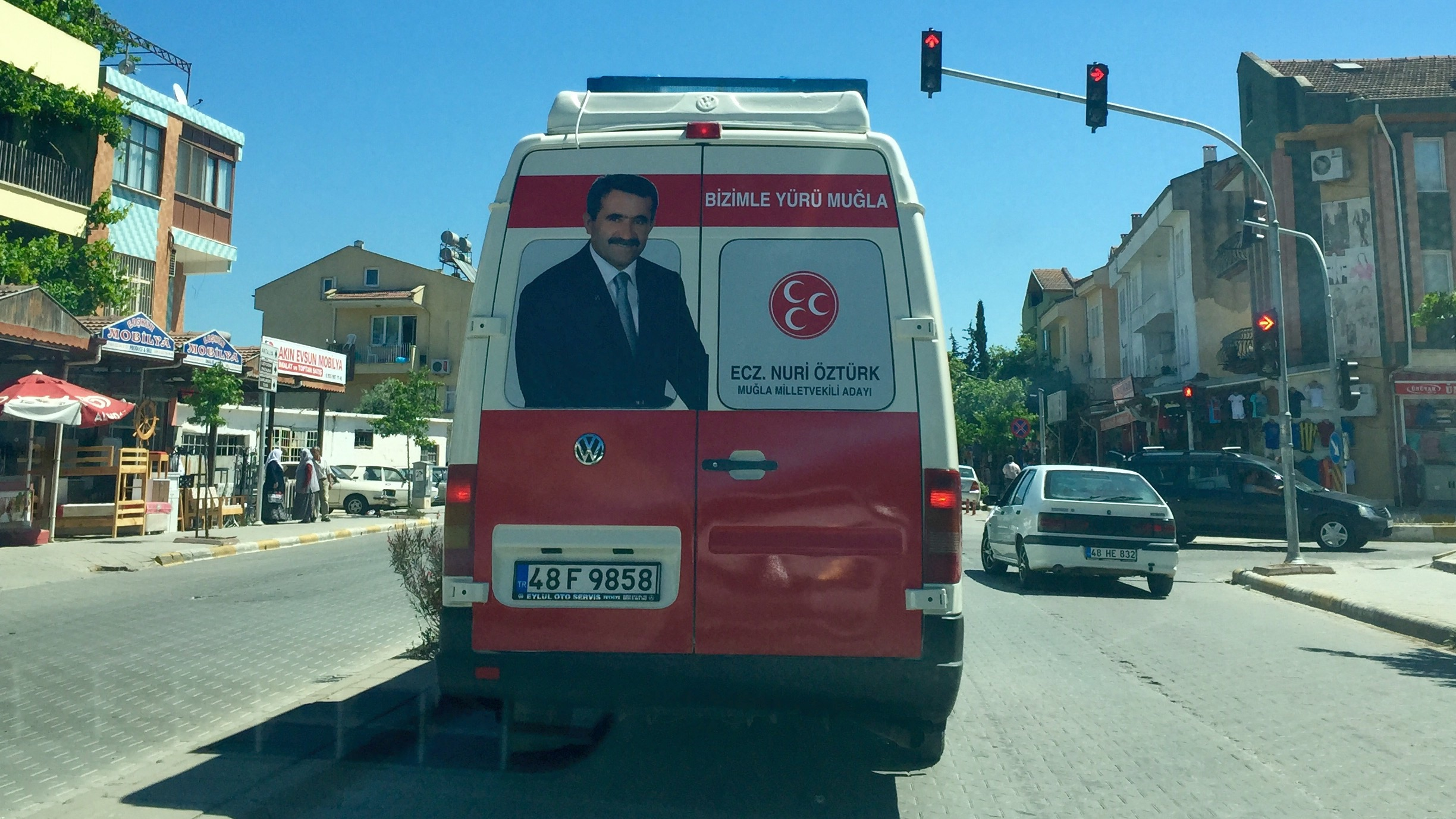 Election van for the 2015 Turkish General election in Fethiye