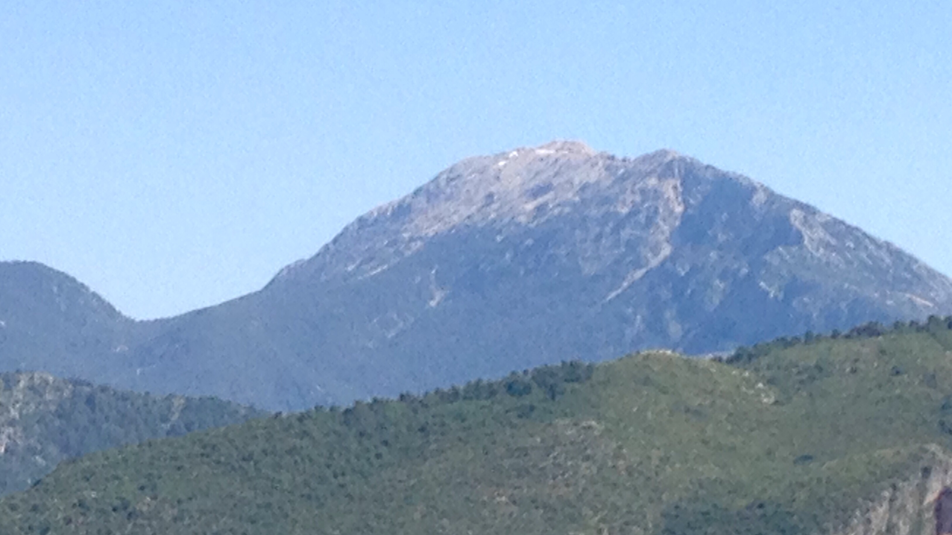 Babadag mountain. The last of the snows melted this week.