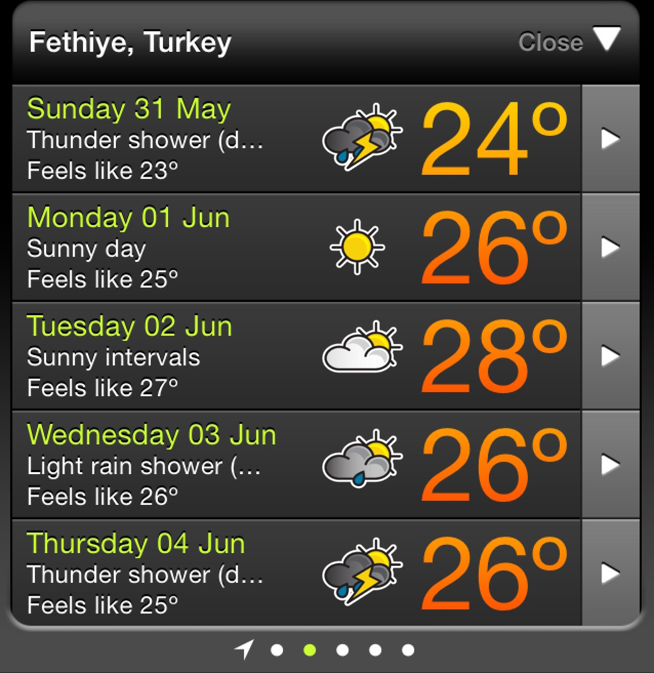Weather forecast we 31 May 2015