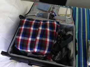 Bundle your clothes to make best use of limited hand luggage