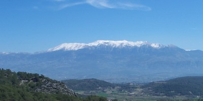 The peaks above the Xanthos Valley reach to the sky
