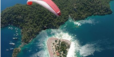 The famous Oludeniz as seen from the air