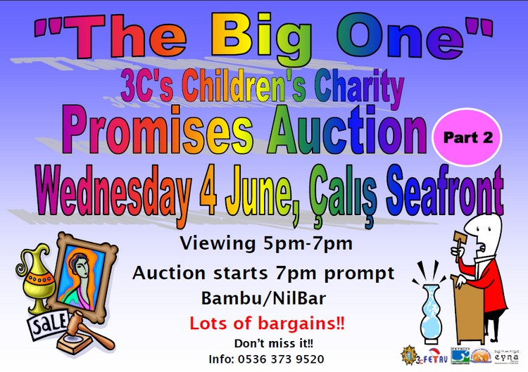 Calis childrens charity the 3cs Promises auction 2014