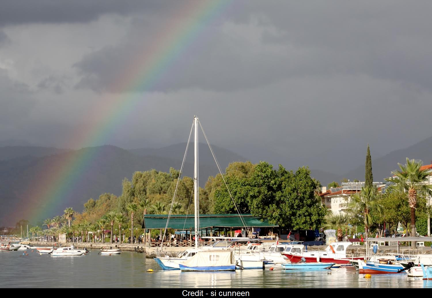 It was a wet week in Fethiye last week. Despite that the rainbows were just amazing!